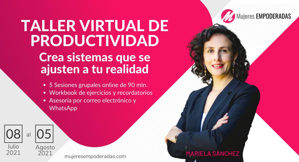 Taller productividad Mariela Sanchez